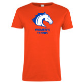 Ladies Orange T Shirt-Womens Tennis