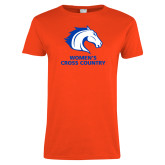 Ladies Orange T Shirt-Womens Cross Country