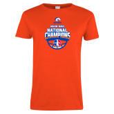 Ladies Orange T Shirt-Movin Mavs NWBA National Champions