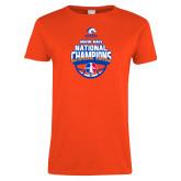 Ladies Orange T Shirt-Movin Mavs NWBA National Champions