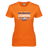 Ladies Orange T Shirt-2017 Mens Track and Field Champions