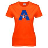 Ladies Orange T Shirt-A with Star