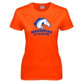 Ladies Orange T Shirt-Mavericks
