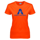Ladies Orange T Shirt-Womens Basketball