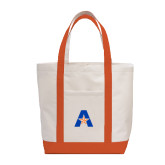 Contender White/Orange Canvas Tote-A with Star