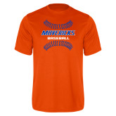 Performance Orange Tee-Baseball Seams