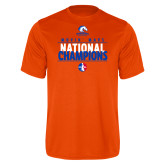 Performance Orange Tee-Movin Mavs National Champions