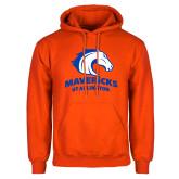 Orange Fleece Hoodie-Primary Mark