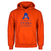 Orange Fleece Hoodie-University of Texas Arlington Stacked