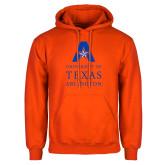 Orange Fleece Hoodie-University of Texas Arlington Stacked