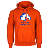 Orange Fleece Hoodie-Mens Basketball