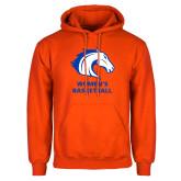 Orange Fleece Hoodie-Mens Basketball