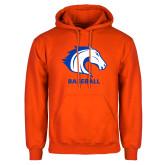 Orange Fleece Hoodie-Baseball