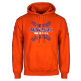 Orange Fleece Hoodie-Baseball Seams