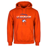 Orange Fleece Hoodie-Baseball Seams on Top