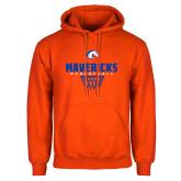 Orange Fleece Hoodie-Basketball Net