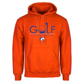 Orange Fleece Hoodie-Golf Hole
