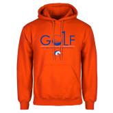 Orange Fleece Hoodie-Golf Hole