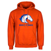 Orange Fleece Hoodie-Mens Tennis