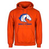 Orange Fleece Hoodie-Mens Tennis