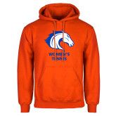 Orange Fleece Hoodie-Womens Tennis