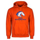 Orange Fleece Hoodie-Mens Track and Field