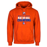 Orange Fleece Hoodie-Movin Mavs National Champions