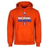 Orange Fleece Hood-Movin Mavs National Champions