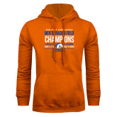 Orange Fleece Hoodie-2017 Mens Track and Field Champions