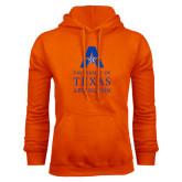 Orange Fleece Hood-Primary Logo