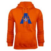 Orange Fleece Hood-A with Star