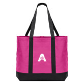 Tropical Pink/Dark Charcoal Day Tote-A with Star