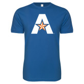 Next Level SoftStyle Royal T Shirt-A with Star