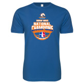 Next Level SoftStyle Royal T Shirt-Movin Mavs NWBA National Champions