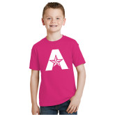 Youth Cyber Pink T Shirt-A with Star