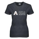 Ladies Dark Heather T Shirt-Secondary Mark