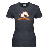 Ladies Dark Heather T Shirt-Mavericks