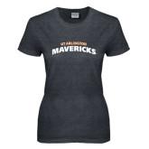 Ladies Dark Heather T Shirt-UT Arlington Mavericks
