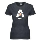 Ladies Dark Heather T Shirt-Mom