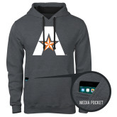 Contemporary Sofspun Charcoal Heather Hoodie-A with Star