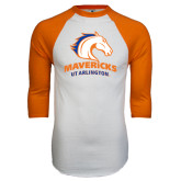 White/Orange Raglan Baseball T Shirt-Mavericks
