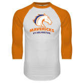 White/Orange Raglan Baseball T Shirt-Primary Mark