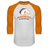 White/Orange Raglan Baseball T Shirt-Primary Mark