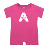 Bubble Gum Pink Infant Romper-A with Star