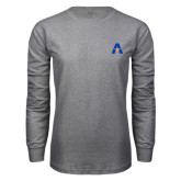 Grey Long Sleeve T Shirt-A with Star