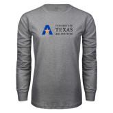 Grey Long Sleeve T Shirt-Secondary Mark