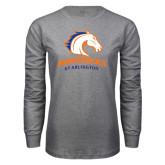 Grey Long Sleeve T Shirt-Mavericks