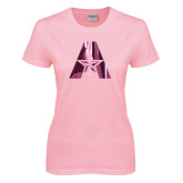 Ladies Pink T Shirt-A with Star