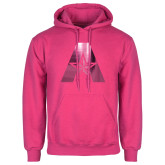 Fuchsia Fleece Hoodie-A with Star Foil
