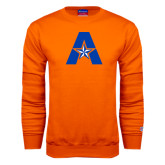 Orange Fleece Crew-A with Star